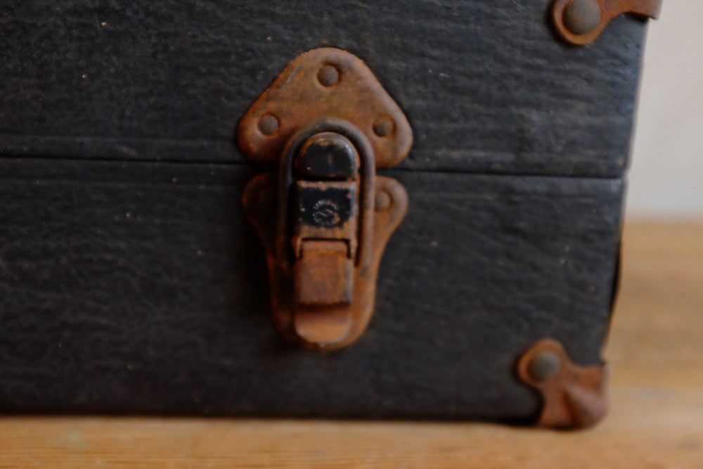 Antique Black Instrument Case Latch Detail
