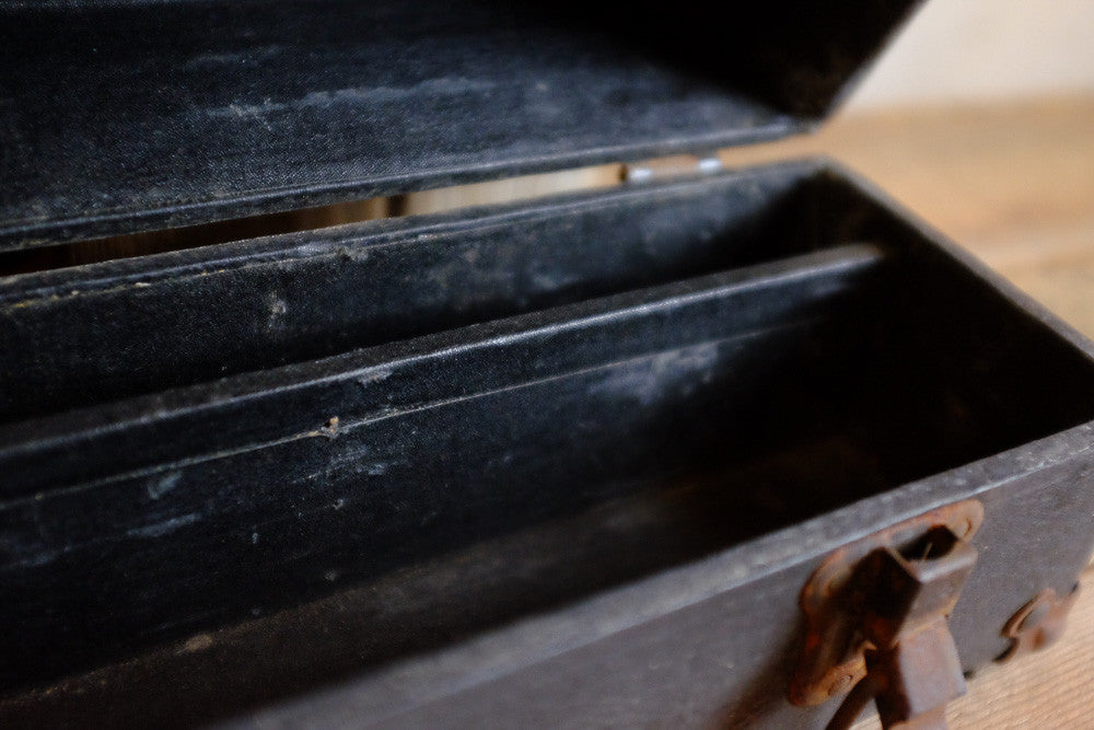 Antique Black Instrument Case Inside View