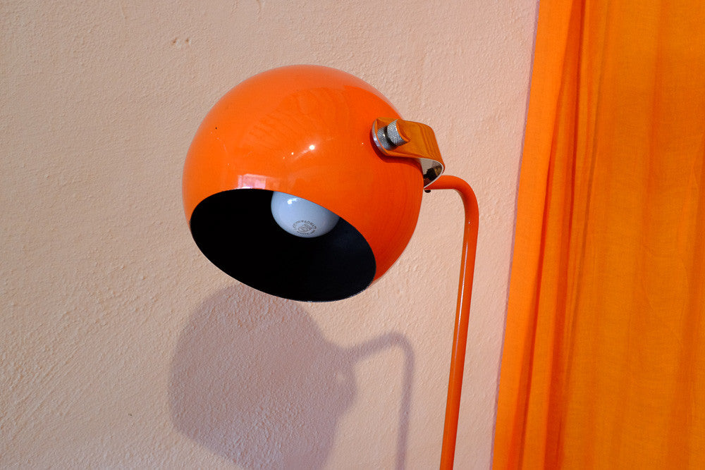 Minny's orange ball lamp