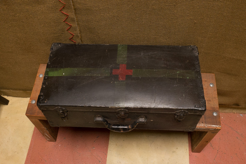 Loan's Red Cross suitcase