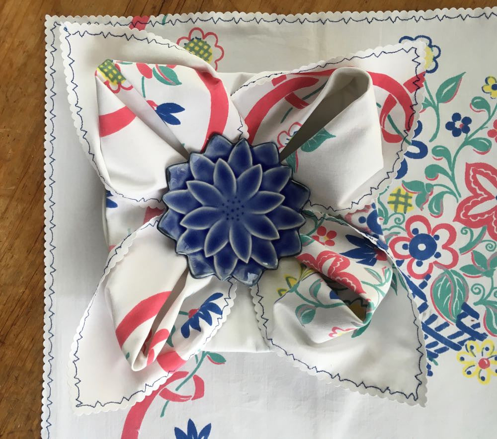 Germain's four floral napkins