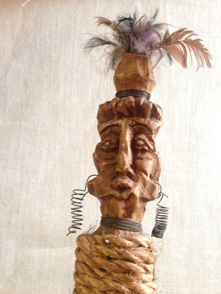Vessy's wobbly tiki sculpture