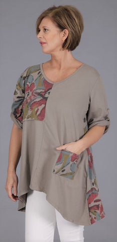 Abstract Panel  Top in Mocha