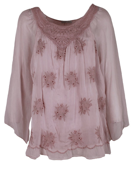 Baby Pink with Gold Detailing Top