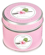 Rose & Vanilla Tin Candle