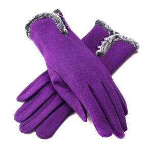 Gloves in Purple Touch Screen