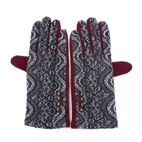 Gloves in Grey Pattern with Date