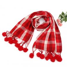 Pashmina in Red Check
