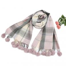 Pashmina in Lilac Check