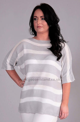 Grey Stripe Knit
