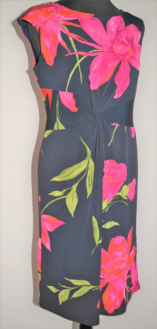 Bright Floral Knot Front Dress
