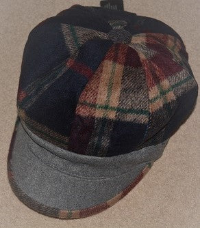Grey Baker Boy Hat