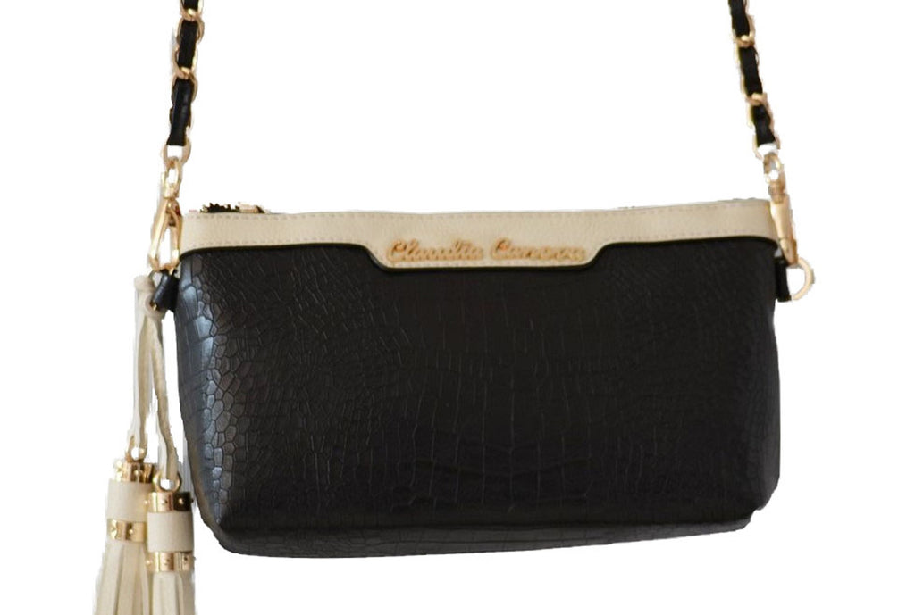 Croc Effect Crossbody/Clutch by Claudia Canova