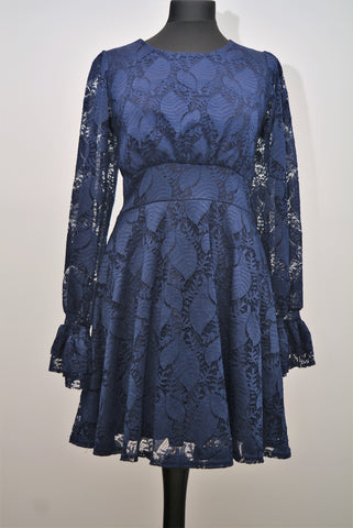 Lace Dress in Navy from Paris