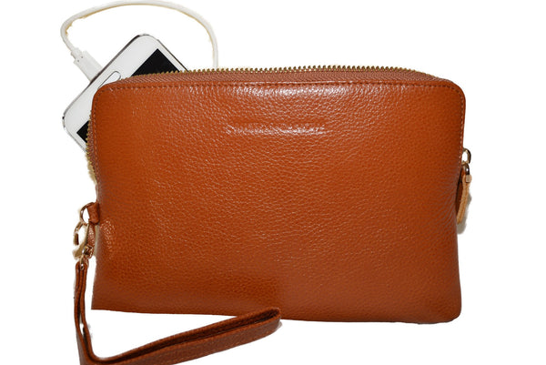 Tan Leather Power Purse