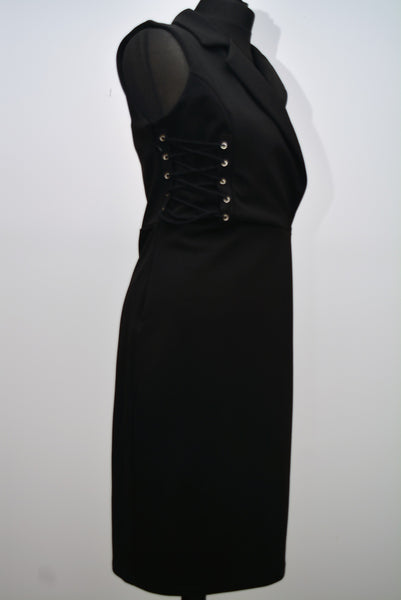 Black Laces Panel Dress