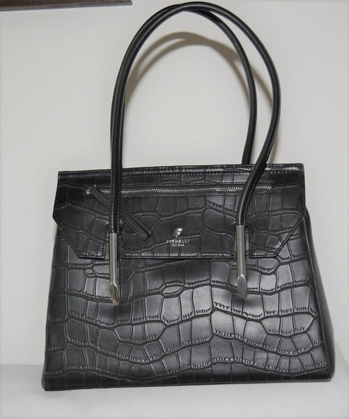 Black Croc Tote by Fiorelli Carlton Collection