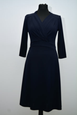 Navy Cut Out Collar Style Dress