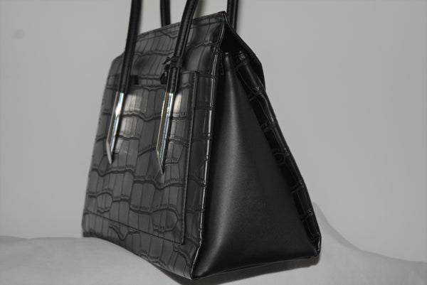 Fiorelli Carlton Shoulder Handbag in Black Croc