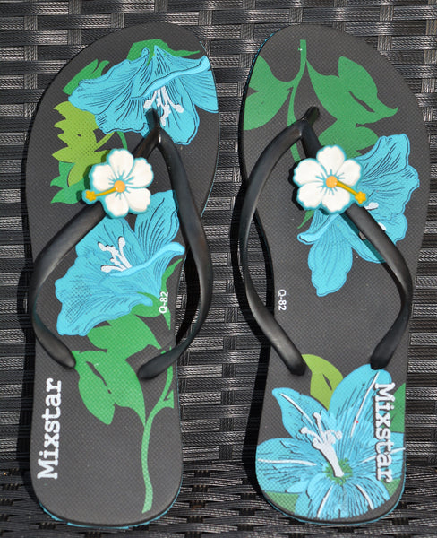 Lily Design Flip Flops in Orange