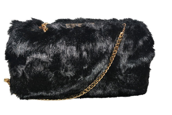 Clutch in Faux Fur by Claudia Canova
