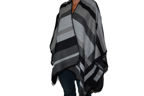 'Wrap Black/Grey/Silver Stripe Panel