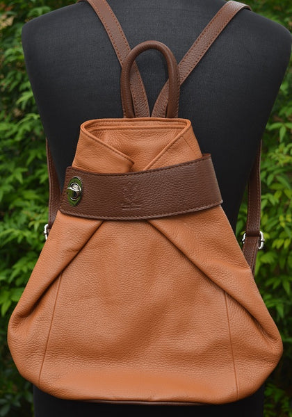 Backpack in Tan Leather