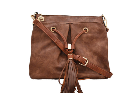 Tassell Crossbody in Brown