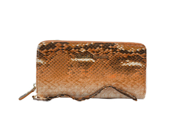 Brown Snake Print Purse with wristlet by Claudia Canova