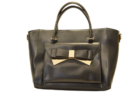 Bow Tote in Black by LYDC