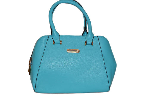 Blue PU Leather Handbag