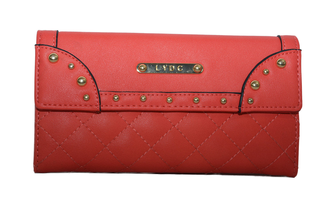 Red Purse With Stud Design by LYDC