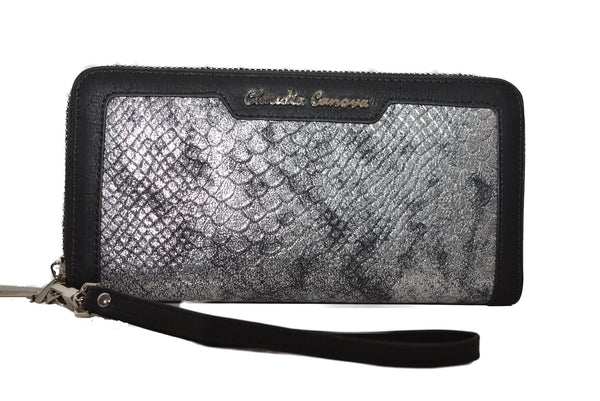 Snake Print in Silver by Claudia Canova