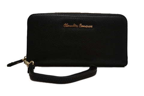 Minimalistic Black Purse in PU Leather by Claudia Canova