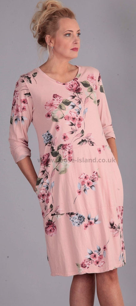 Pale Pink Flower Dress