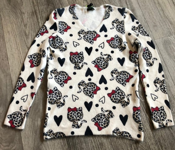 Cat Jumper With Hearts