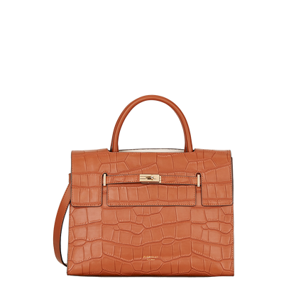 Croc Harlow Collection in Tan by Fiorelli