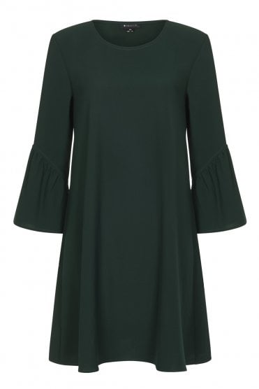 Greta Plain Green Dress