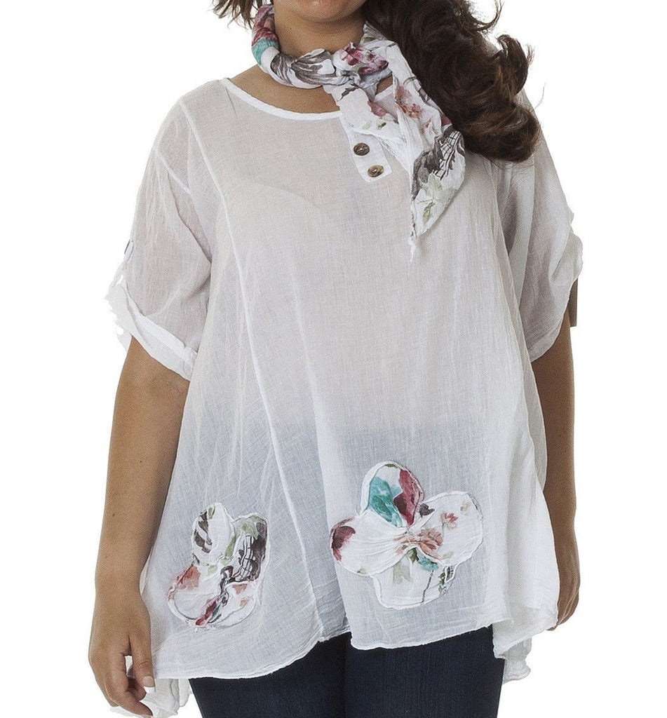 White Lightweight Floaty Top