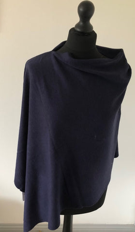 Lightweight Poncho in Navy
