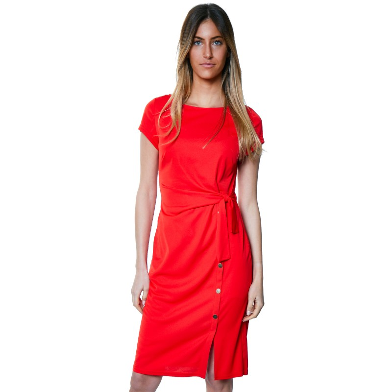Rosy Dress from Paris in Red