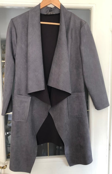 A NEW:  Grey Waterfall Jacket
