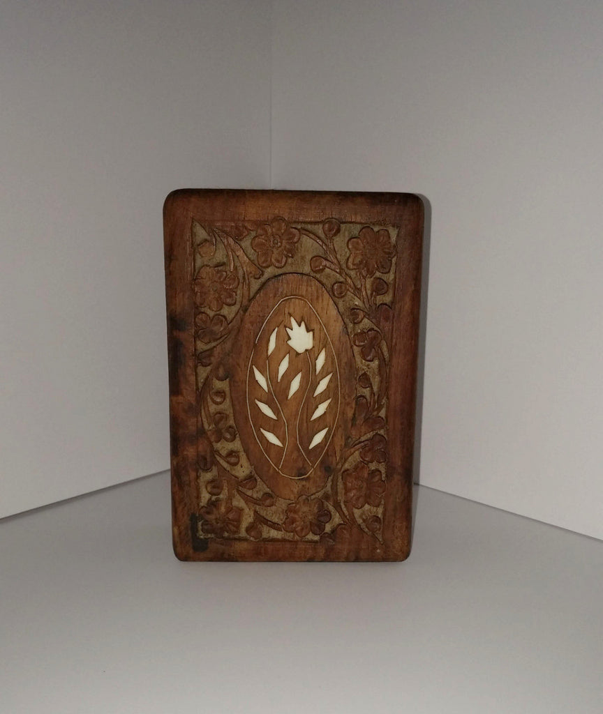 Antique Carved Wooden Box Small Town Antiques