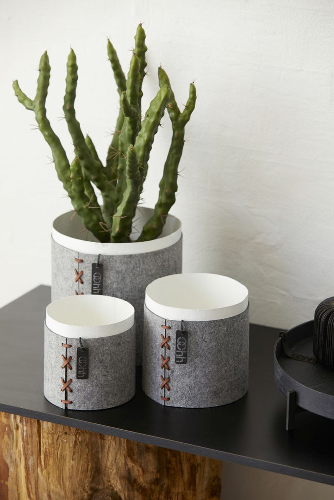 Cross stitch pot eco-felt fra OOhh collection