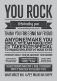 You Rock fra I Love My Type, Grey, A3