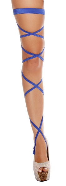 "100"" Solid Leg Strap w/ Attached Garter"