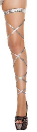 "100"" Velvet Leg Strap w/ Attached Garter"