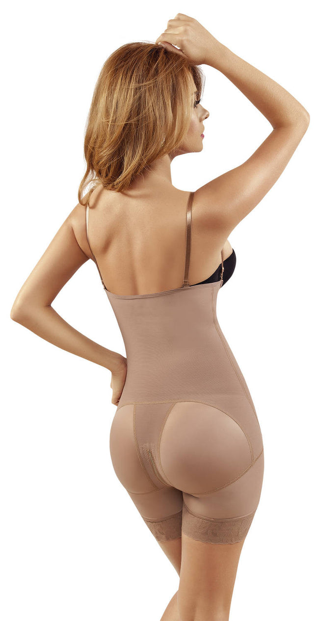 Post-Surgical Open Bust Mid-Thigh Body Shaper - Fashion