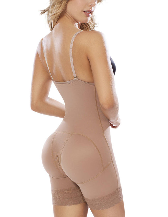 Post-Surgical Open Bust Mid-Thigh Body Shaper - Womens Fashion