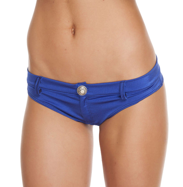 1pc Extreme Booty Shorts w/ Button Front Detail - Royal Blue